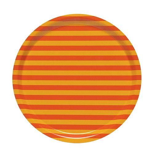 Marimekko Tasaraita  tray, orange - yellow