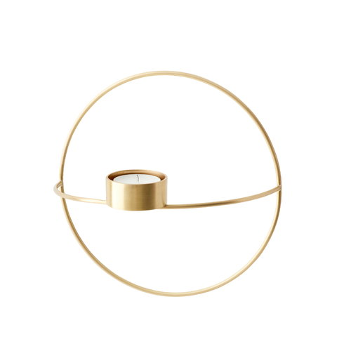 Menu POV Circle tealight candle holder, S, brass