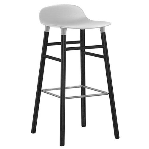 Normann Copenhagen Form barstool, 75 cm, black-white