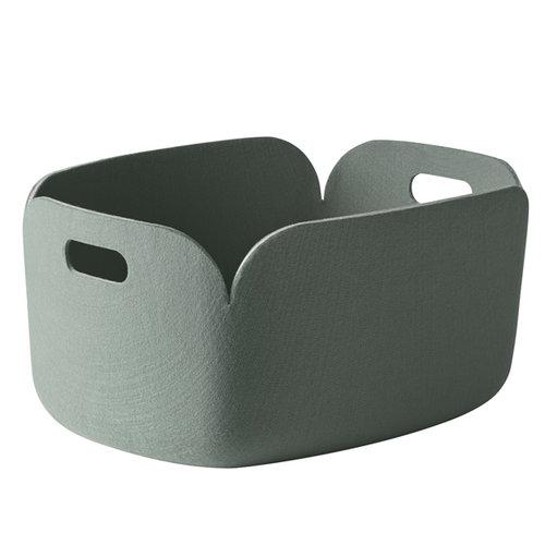 Muuto Restore storage basket, dusty green