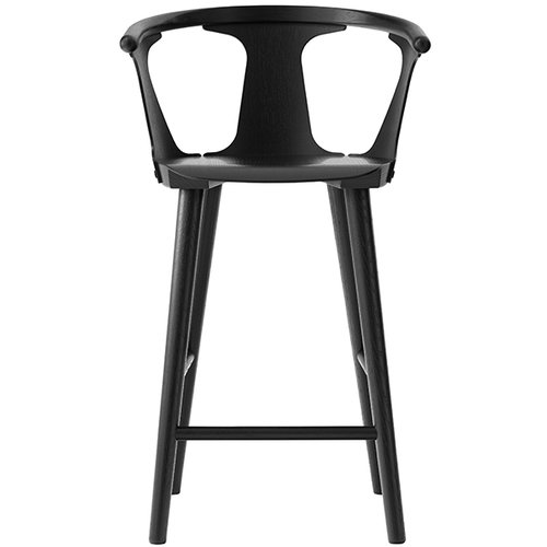 &Tradition In Between SK9 bar stool, 75 cm, black laquered oak