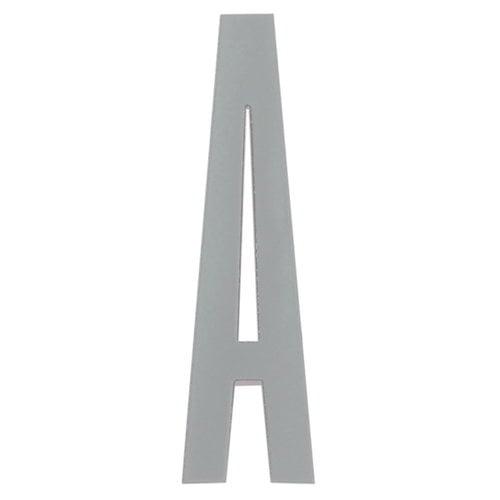 Design Letters Arne Jacobsen wooden letter, grey A-�