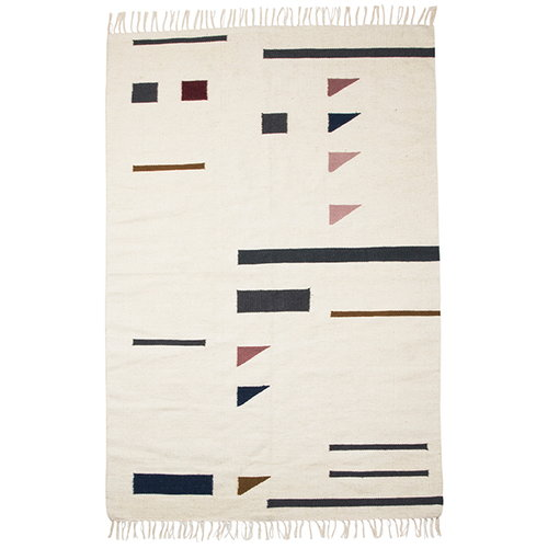 Ferm Living Kelim rug, Triangles, large