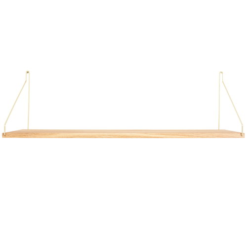 Frama D27 wall shelf, 80 cm, brass