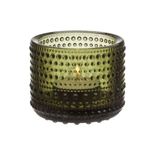 Iittala Kastehelmi votive, moss green