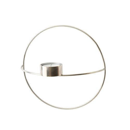 Menu POV Circle tealight candle holder, S, silver
