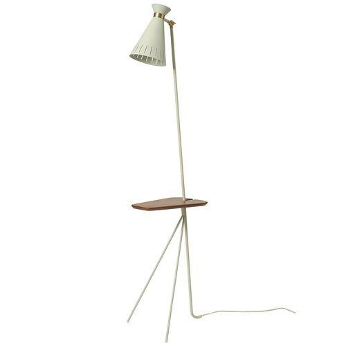Warm Nordic Cone floor lamp with table, warm white