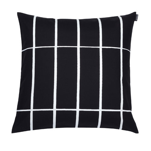 Marimekko Tiiliskivi cushion cover, 50 x 50 cm, black-white