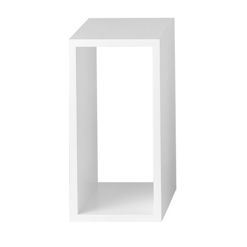 Muuto Stacked shelf module small, white