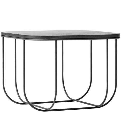 Menu Cage table, black/dark ash