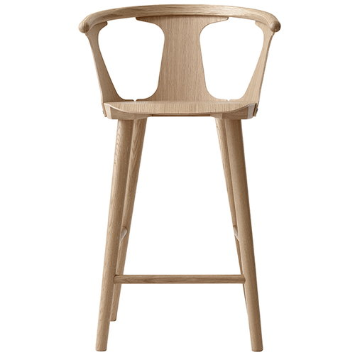&Tradition In Between bar stool, 75 cm, white oiled oak
