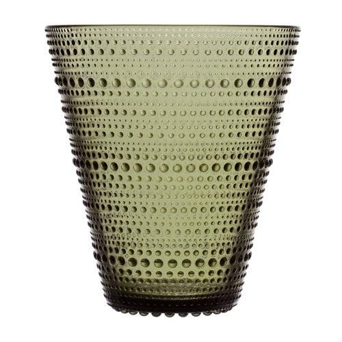 Iittala Kastehelmi vase 154 mm,  moss green
