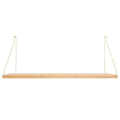 Frama D27 wall shelf, 60 cm, brass