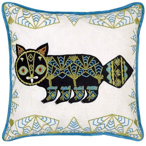 Klaus Haapaniemi Putte Cat tyynynp��llinen, pellava - silkki
