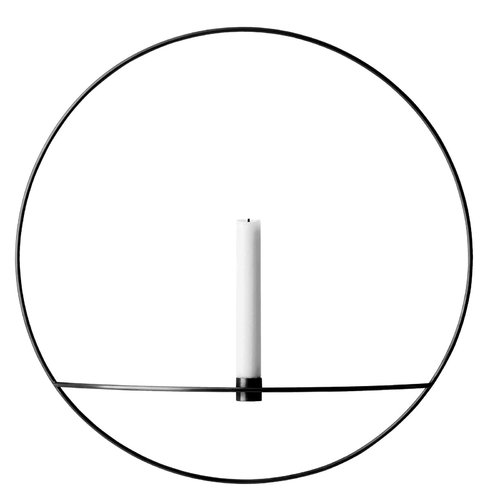 Menu POV Circle candleholder, L, black