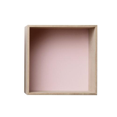 Muuto Mini Stacked, keskikokoinen, saarni/vaaleanpunainen