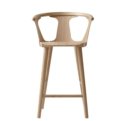 &Tradition In Between bar stool, 65 cm, white oiled oak