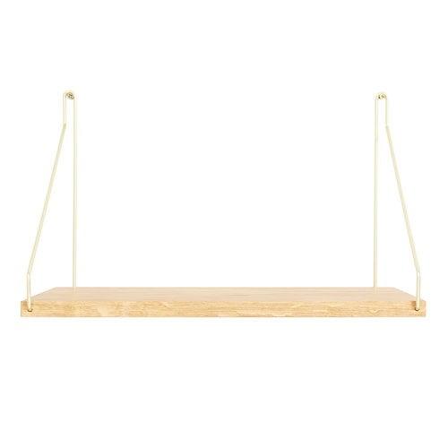 Frama D27 wall shelf, 40 cm, brass