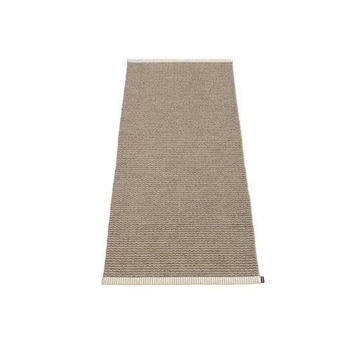 Pappelina Mono rug, 60 x 150 cm, dark mud