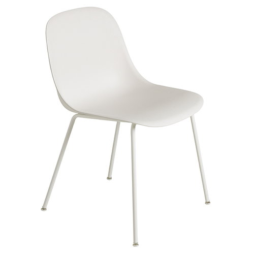 Muuto Fiber side chair, tube base, white