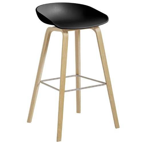 Hay About A Stool AAS32, 75 cm, black - matt lacquered oak