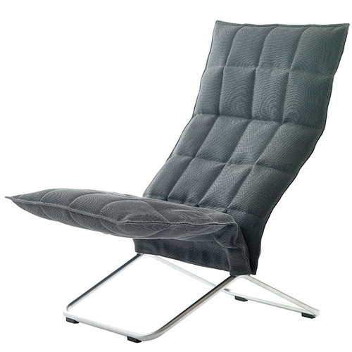 Woodnotes K chair, graphite, narrow