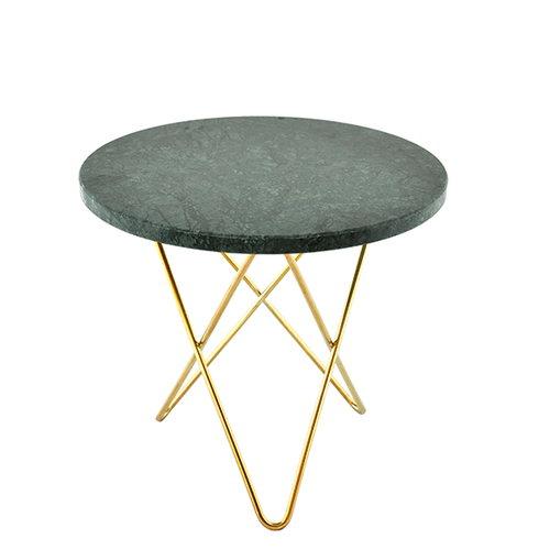 OX Denmarq Mini O table, brass - green indio