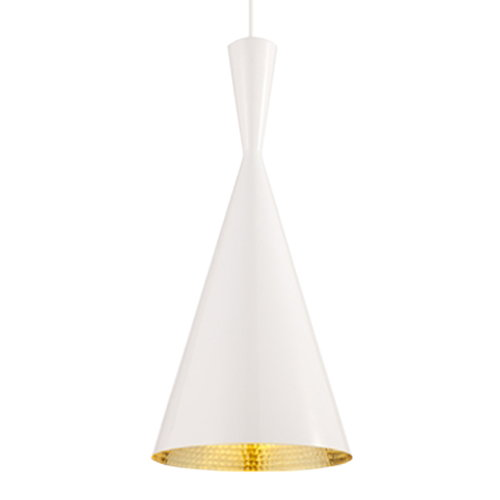 Tom Dixon Beat Light Tall valaisin, valkoinen