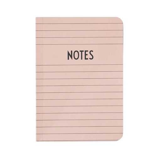 Design Letters Notebook A6, pink