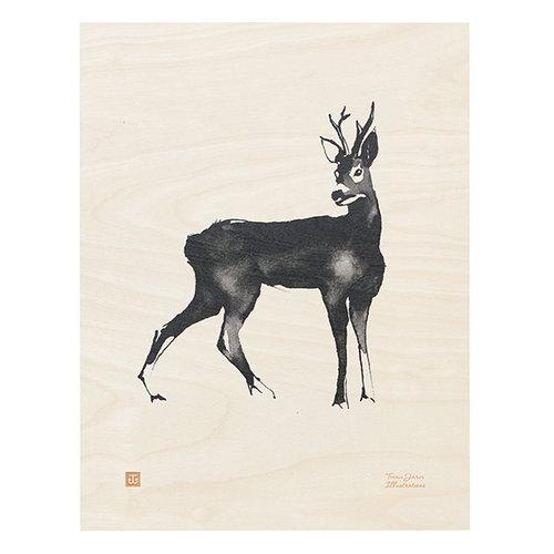 Teemu J�rvi Illustrations Roe Deer plywood poster