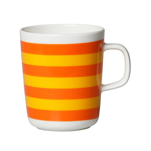 Marimekko Oiva - Tasaraita mug 2,5 dl, orange - yellow