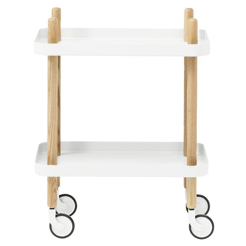 Normann Copenhagen Block trolley, white