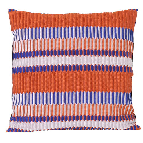 Ferm Living Salon tyyny, 40 x 40 cm, Pleat, ruosteenpunainen