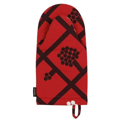 Marimekko Spalj� uunikinnas, punainen-tummanpunainen-valkoinen