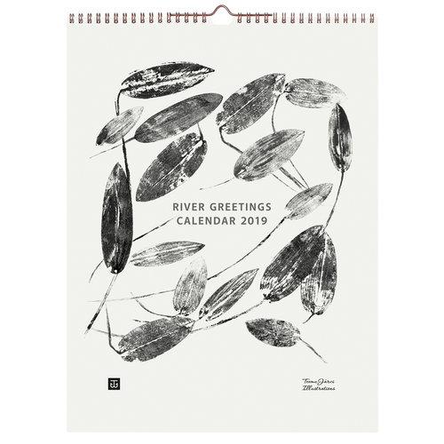 Teemu J�rvi Illustrations River Greetings 2019 wall calendar