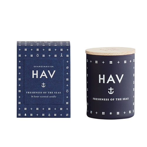 Skandinavisk Scented candle with lid, HAV, small