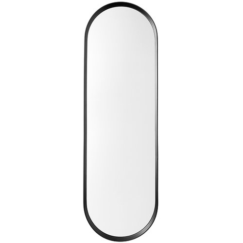 Menu Norm wall mirror, oval, black