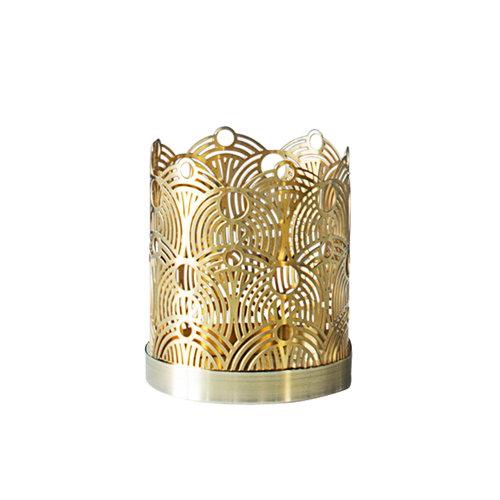 Skultuna Lunar candleholder, small, brass
