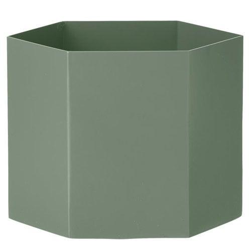 Ferm Living Hexagon pot XL, dusty green