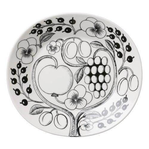 Arabia Paratiisi plate, oval 25 cm, black