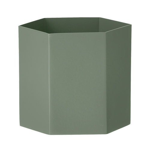Ferm Living Hexagon ruukku L, dusty green