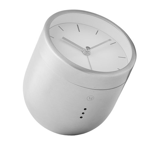 Menu Norm Tumbler alarm clock, brushed steel