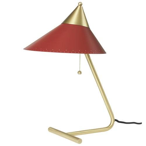 Warm Nordic Brass Top p�yt�valaisin, punainen