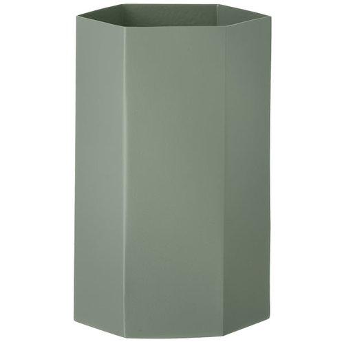 Ferm Living Hexagon vase, dusty green