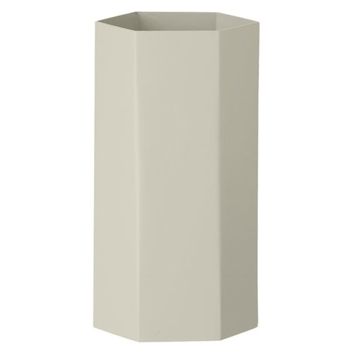 Ferm Living Hexagon vase, grey
