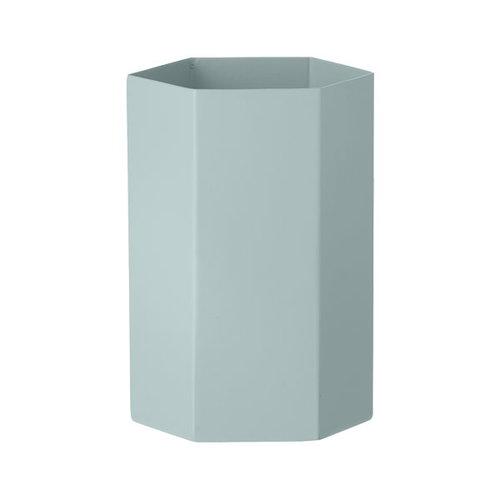 Ferm Living Hexagon vase, light blue