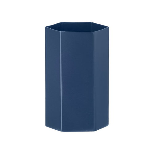 Ferm Living Hexagon vase, blue