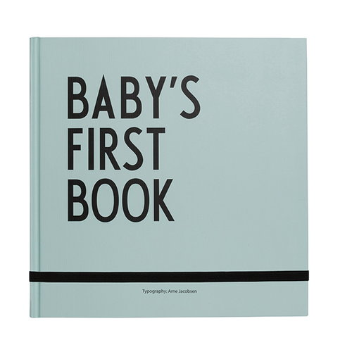 Design Letters Baby's First Book, turquoise