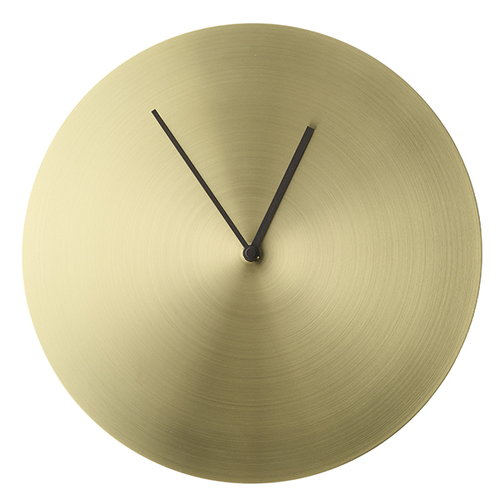Menu Norm wall clock, brushed brass