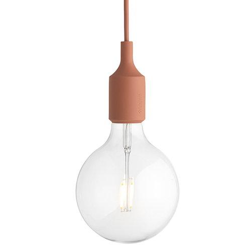 Muuto E27 LED socket lamp, terracotta